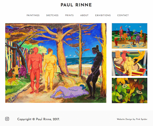Paul Rinne Artist Website
