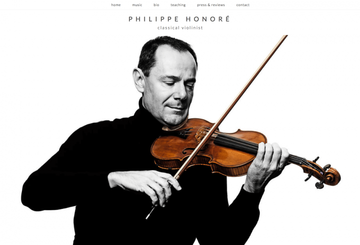 Website Design for Philippe Honoré - a Classical Violinist