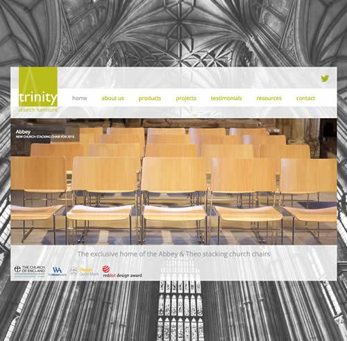 Mobile-Friendly Website Design for a Church Furniture Company in London